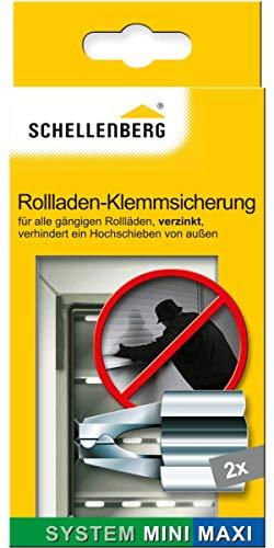 Schellenberg 16003 Klemmsicherung für Rolläden 1er-Pack (2 Stück), Einbruchshemmende Rolladen-Sicherung