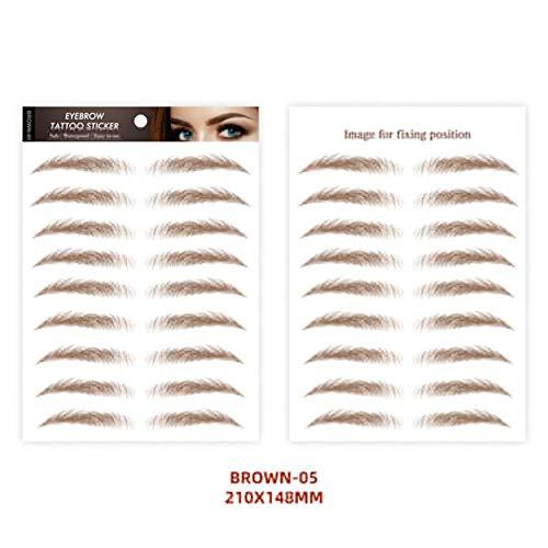 Brows Tatoos 6D Imitación Impermeable de Larga Duración Cejas Pegatinas Maquillaje Herramientas Cosméticos - 10 Pares/Hoja 05.