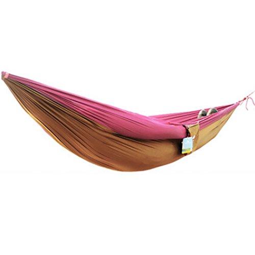 Multifonction Camping Hamac à suspendre Lit Double Taille [2.6 * * * * * * * * 1.3 m] Rouge/Camel