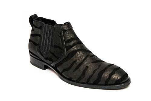 Carlo Ventura 2832 Mens Ankle High Boot in Suede and Crocodile Print Leather Combo