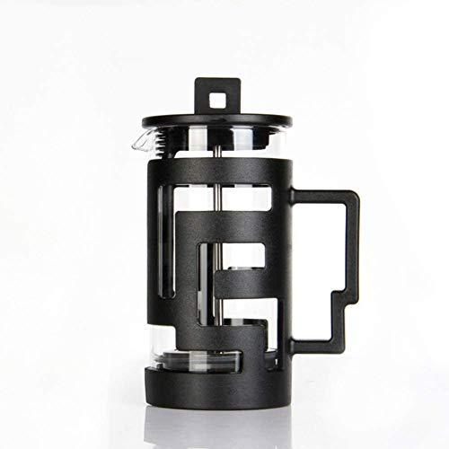DFGER Caffettiere all'Inglese Caffettiera della Stampa Francese, caffettiera percolatori caffettiera, caffettiera con Muro di Vetro di Alta qualità con Cucchiaio, Nero (Size : 800ml)