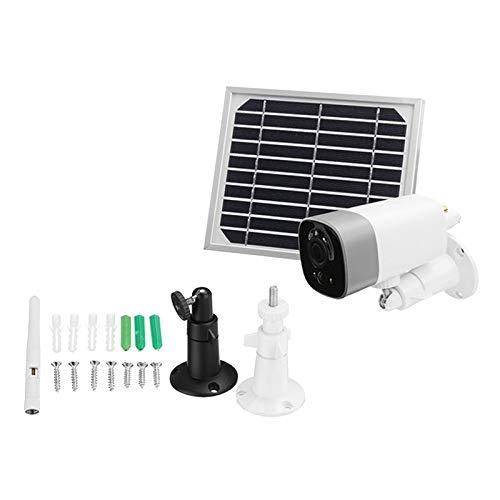 balikha Cámara de Seguridad WiFi con Panel Solar 1080p HD PIR Detección de Movimiento Noche
