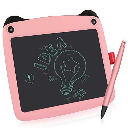 LCD Writing Tablet, 9 Inch Electronic Writing Drawing Pads Portable Doodle Board Gifts for Kids Office Memo Home, EP109B-M-N01, Pink