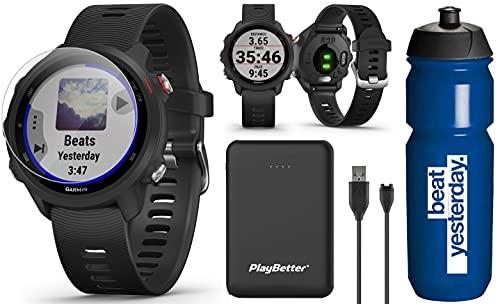Garmin Forerunner 245 Music (Black) GPS Running Watch Runners Bundle  ...