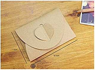 GYHS 50pcs/lot Handmade Heart Kraft Envelope Vintage Envelopes Retro Stationery Set Postcard Photo Storage Christmas Gift ...