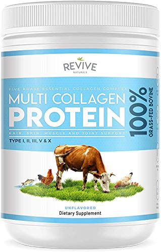 Multi Collagen Protein Powder - 5 Types of Food Sourced Collagen Peptides -...