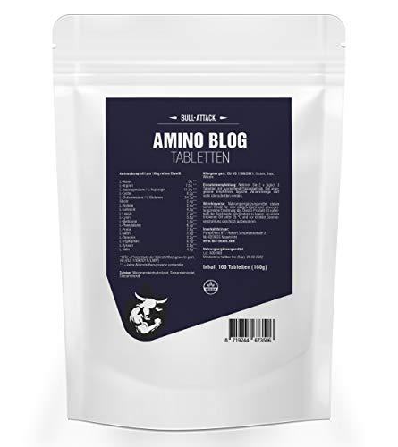 AMINO TABS | 160 Tabletten Aminosäuren-Komplex aus 18 Aminosäuren | Glutamin, BCAA, Arginin | Vegan | Muskelaufbau, Muskelschutz & Muskelerhalt | Anabol + Antikatabol | Hochdosiert zum besten Preis