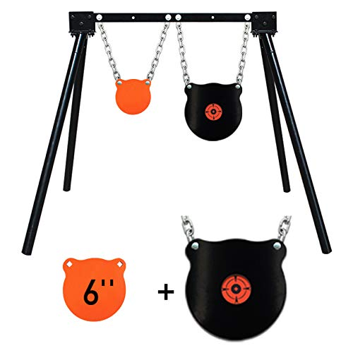 Highwild Steel Target Stand AR500 Shooting Target System (Stand, Mounting Kits & 6' Gong + 10'...
