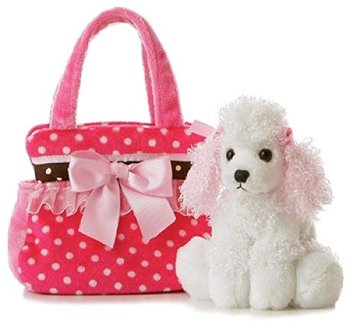 Aurora World Pet Carrier - 8' Fancy Pink Polka Dot, Multicolor