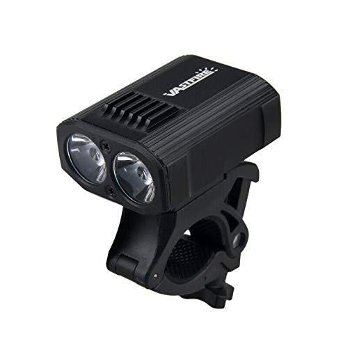 15000LM T6 LED mountain bike light front light, rechargeable USB charger + rear safety flashing light