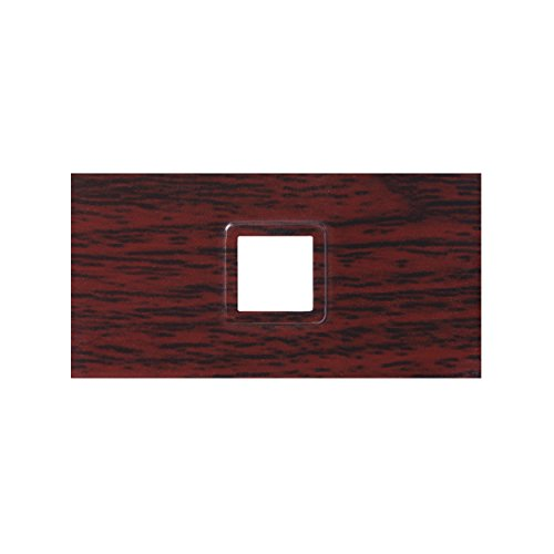 MSV Lote DE 4 OCULTADORES DE ABS Y ACRILICO WENGUE, 9.80x6.4x2.5 cm