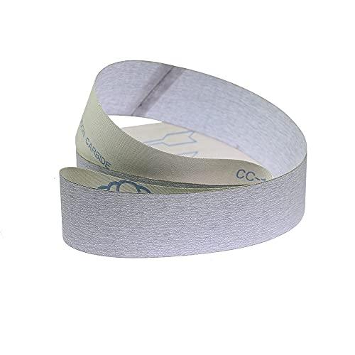 Cinturón de lijado seco de 2 piezas. P1000 P1200 Paño suave para la banda de pulido de acero inoxidable de aluminio de madera YUAN CHUANG (Grit : P1000, Size : 686x50mm)