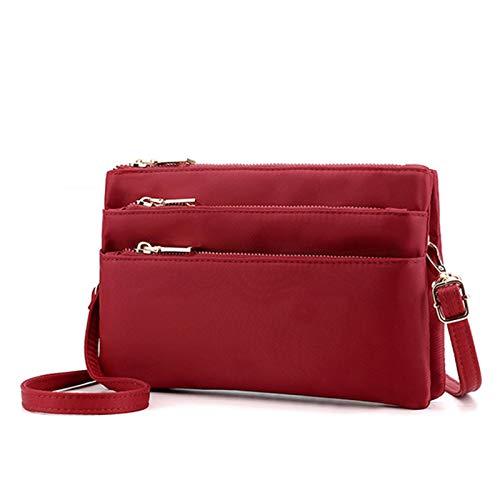Delisouls Bolsos Crossbody para mujer, bolso cruzado diario de múltiples capas, bolsillos con cremallera, bolso de tela Oxford, ligero, multi bolsillos, bolsa de hombro impermeable