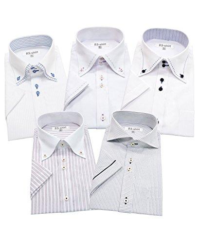 BS-shirt(ビジネスマンサポートシャツ) 半袖ワイシャツ 5枚セット メンズ 形態安定 bs 033-L