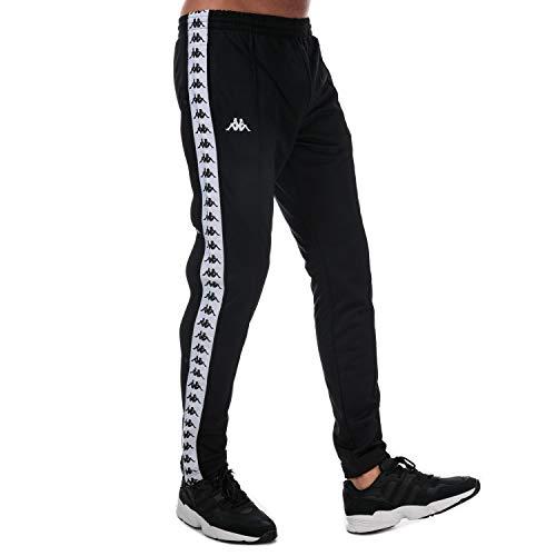 Kappa 222 Banda Astoria - Pantalones de chándal para Hombre Negro Negro/Blanco L