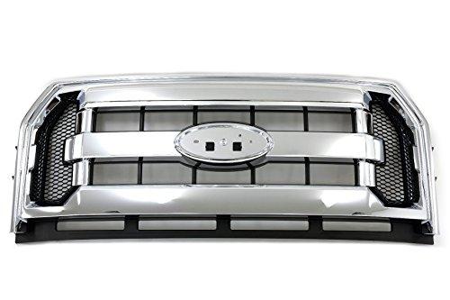2015-2016 Ford F-150 Chrome Radiator Grille w/ Side Mesh Inserts OEM FL3Z8200DA