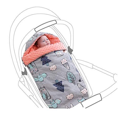 Saco de dormir para bebé, saco de dormir para cochecito, saco de dormir multifunción, cuello, recién nacidos, niño, niña, manta envolvente