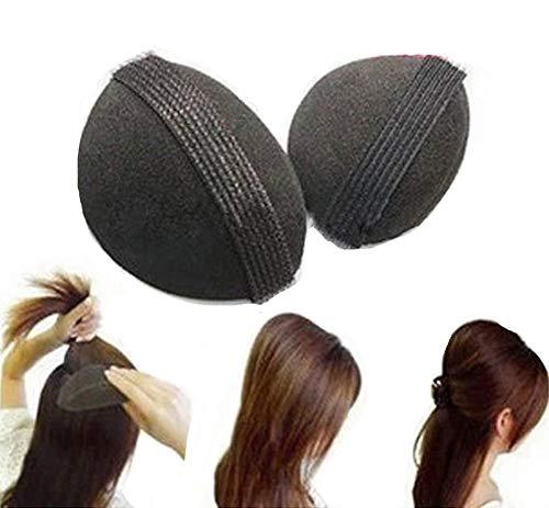 HeiHy 2 Stück Haarkissen Volumenkissen Haar Volumen Schaumstoff Kissen Frisurenhilfe Zubehör mit Klettband