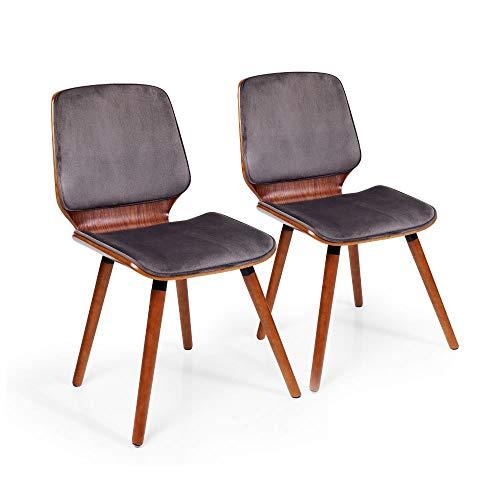 Kare Design Stuhl Gigi Grau (2/Set) (H/B/T) 85 49 61,5