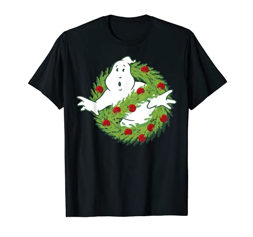 Ghostbusters Classic Logo Christmas Wreath T-Shirt, adult, child sizes up to 3XL