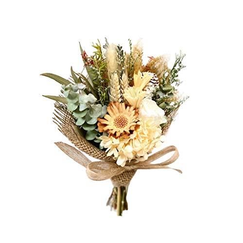 ZZL Flores conservadas hechas a mano con margaritas de flores preservadas – Idea regalo para niñas, nunca martilladas, eterna ella, regalo para el día de San Valentín centros de mesa (color: B)