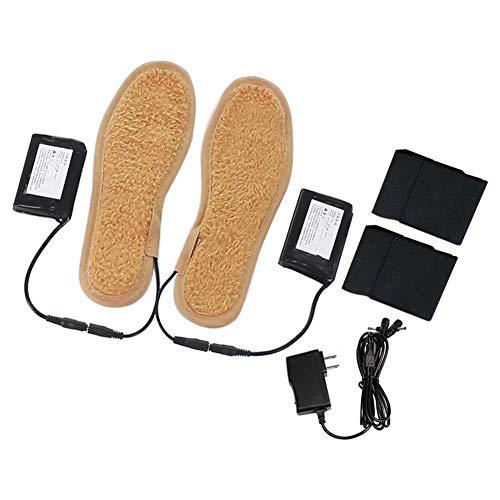 Zapatero calefactor unisex con plantillas eléctricas para cortar a las pilas, calentador de pies, suela térmica 36-43 para caza, pesca, senderismo, acampada