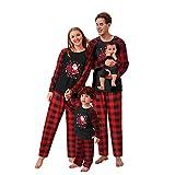 Fossen Bebés Conjunto de Pijamas Familiares de Navidad, Trajes Navideños para Mujeres Hombres Niño, Ropa Invierno Sudadera Chándal Suéter Niños de Navidad, Pijamas Mujer Invierno