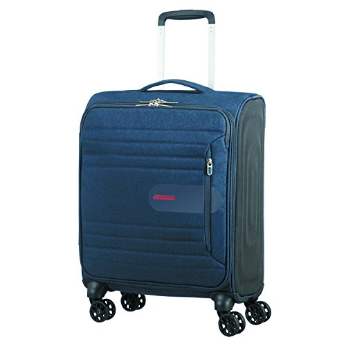American Tourister Sonicsurfer - Spinner 55/20 Equipaje de Mano, 55 cm, 40 Liters, Azul (Midnight Navy)