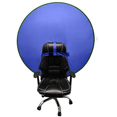 2021 Pantalla de fondo portátil 4 pies para estudio de vídeo fotográfico Reflector plegable para silla Big Shot portátil Webcam fondo (azul)