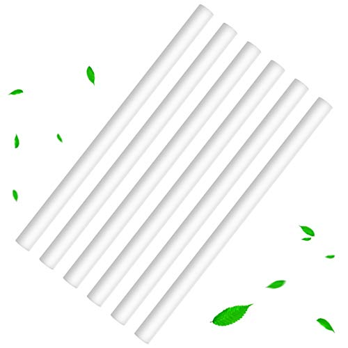 24 Pieces Humidifier Cotton Sticks Filter Replacement Wicks Humidifiers Filter Sticks Refill Sticks for Portable Personal USB Mini Humidifier Supplies, 8 x 136 mm