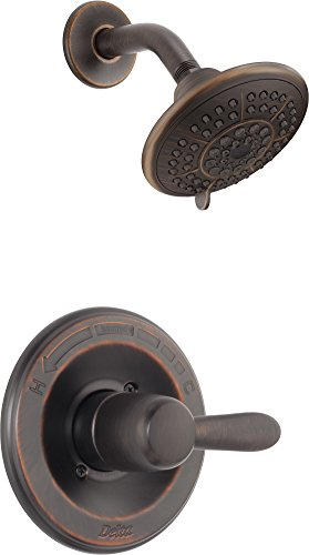 Delta Faucet Lahara 14 Series Single-Handle Shower Faucet, Shower Trim Kit with 5-Spray Touch-Clean Shower Head, Venetian Bronze T14238-RB (Valve Not Included)