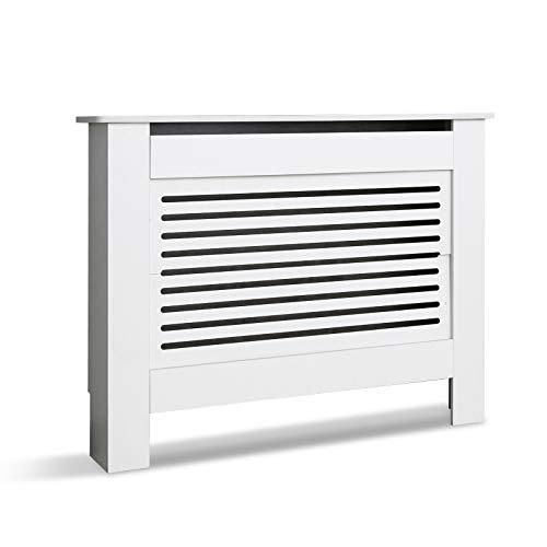 Mondeer Cubierta del Radiador, Cubierta para radiador 110 x 82 x 19 cm MDF para Sala de Estar Dormitorio Blanco