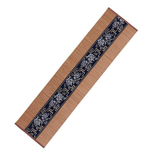 Omabeta Juego de té de bambú para el hogar, fácil de limpiar, no tóxico, seguro y duradero (30 x 180 cm), color azul marino