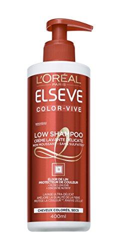 L'Oréal Paris Elsève Low Shampoo Color Vive Creme-Waschmittel für coloriertes Haar 400 ml