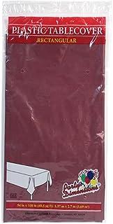 بارتي دايمنشنز بلاستيك مستطيل مقاس 137.16 سم × 274.32 سم | التوت | غطاء طاولة قطعة واحدة