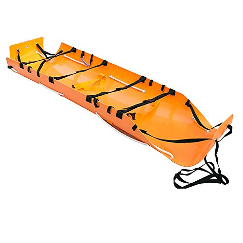 jjff Folding Stretcher with Handles Emergency Rescue Back Stretcher with Storage Bags for Hospital,Clinic, Home,Sports Venues,Ambulance, Construction Site