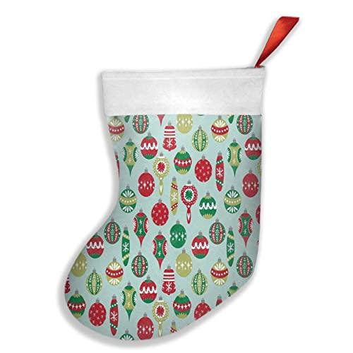 Leather earrings Vintage Navidad Floral Hunter perro Navidad rojo calcetín copo de nieve caramelo bolsa titular para la decoración de Navidad