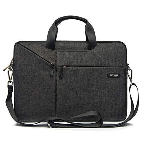 Laptop Schulter Tasche WIWU Umhängetasche/Laptoptasche für Laptop / Tablet mit Bildschirmdiagonale 13.3 zoll mit Viele Fächer und Bequeme Trageschlaufe -Premium Herrentasche und Damen Handtasche