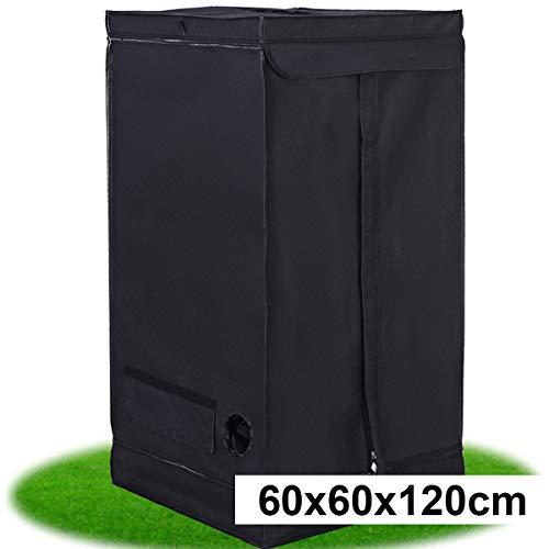 COSTWAY Growbox Darkroom Growzelt Grow Tent Zuchtschrank Pflanzenzucht Gewächszelt (60x60x120 cm)