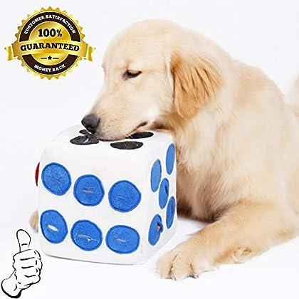 Puzzle-Trainingsspielzeug: Dieses Hundeschnupfspielzeug imitiert die Futtersuche und kann auch als Übungsspielzeug verwendet werden, um die natürliche Neugier des Hundes zu stillen und seinen überlegenen Geruchssinn zu steigern. Halten Sie ihn beschä...