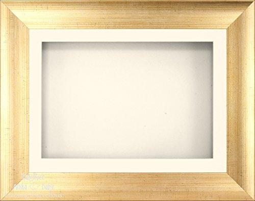 BabyRice Anika-Baby 29,2 x 21,6 cm Doré Antique Cadre 3D/1 Trou Passe-Partout crème