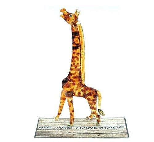 Handmade Giraffe Art Glass Blown Wild Animal Figurine - No.2 by We Are Handmade Figurine Art Glass Blown