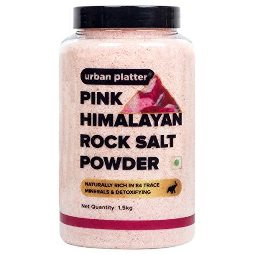 Urban Platter Pink Himalayan Rock Salt Powder Jar, 1.5kg