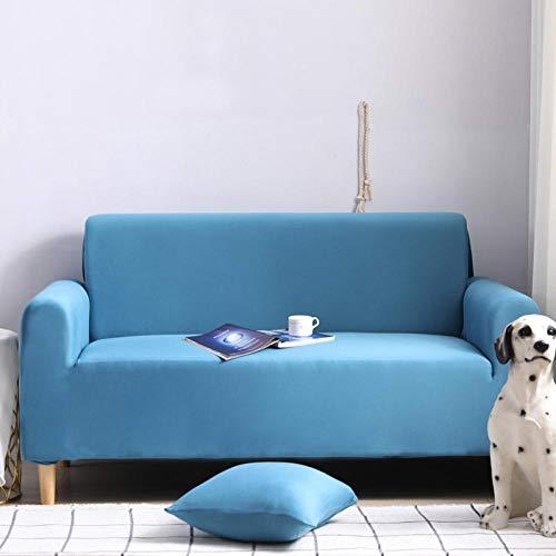 HXTSWGS Stretch Sofa Cover,Elastic sofa cover, chair stool sofa cover, furniture cover, sofa chair cover-Lake blue_90-140cm