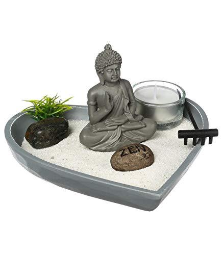 Jardín Zen en corazón 17X16,5