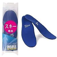 スキー スノーボード 用 インソール (プロスポーツ選手愛用 中敷き) 衝撃吸収 青 PB S