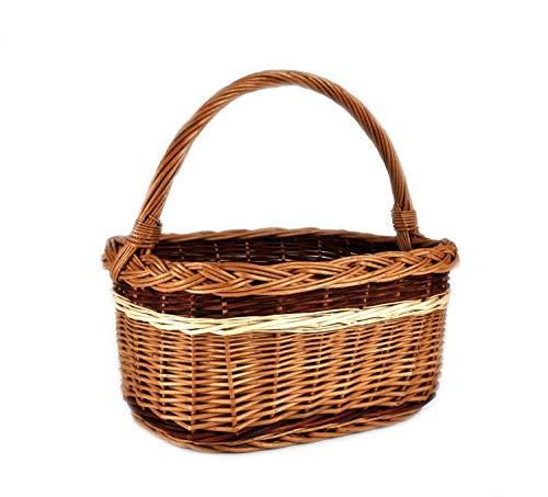MyBer K1-314-7 Rattanmand, boodschappenmand, picknickmand, cadeaumand, rieten mand, gevlochten