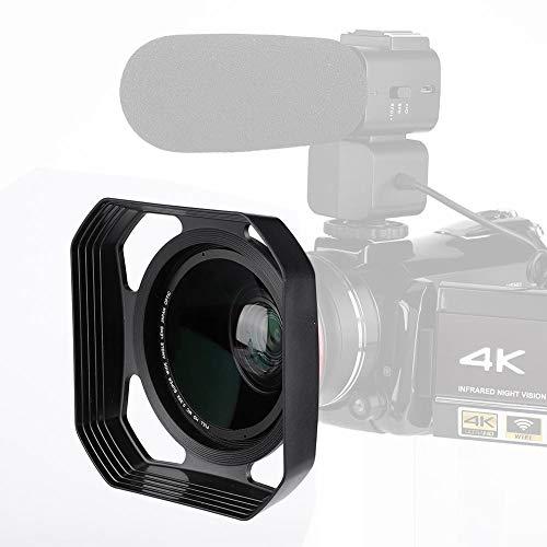 37 mm-72 mm cameralenskap, vierkante zonnekap Zonnescherm/schild, vermindert lensflare en schittering voor digitale videocamera en camcorder