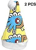 Aeykis Lindo símbolo Azteca Divertidos Sombreros de Santa para Navidad de Navidad, Paquete de 2 S