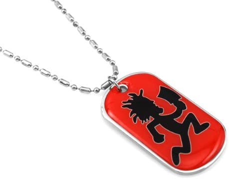Blingforfun Red Hatch Man Coated Dog Tag Necklace with Free Chain product image